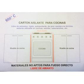Aislante Horno Cocina Carton Mineral 56x86 Libre De Amianto