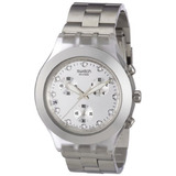Swatch Diaphane Cronógrafo Blooded Silver Mens Watch Svck403