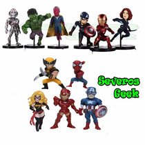 Bonecos Marvel Dc Avulso Batman Liga Homem America X Men Dbz