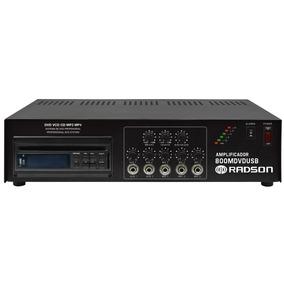 Amplificador Radson Potencia Rms 80 Watts Mod. 800 Mdvd Usb