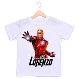 Camiseta Homem De Ferro Com Foto Da Criança