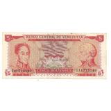 Billete Antiguo De 5 Bolivares Enero 29 1974 S N° E 11575240