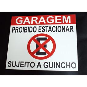 Adesivo Proibido Estacionar Portão Feito Em Vinil