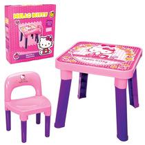 Kit Mesa + Cadeira Hello Kitty Infantil Monte Libano Rosa