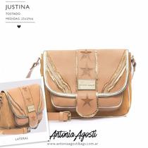Bolso Y Cartera De Cuero - Antonia Agosti - Modelo Justina