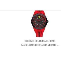 Relógio Masculino Scuderia Ferrari Borracha Vermelha Importa
