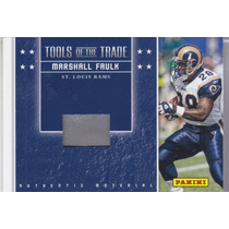2013 Panini Used Shoe Material Marshall Faulk Rb Rams