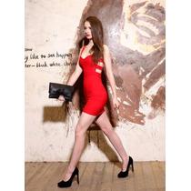 Vestido Ajustado Rojo De Fiesta Corto