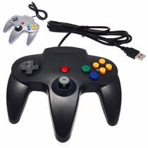 2 Controles Usb Retro N64 O Nintendo 64 Para Pc Mac Gamepad