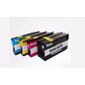 Kit 4 Cartucho Compativel Hp 950xl 951xl 8100 8600 8620 8630