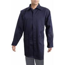 Bata Para Trabajo Industrial Azul Marino 100% Algodon 44-46