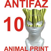 10 Antifaces Fiesta Animal Print Boda Xv Antifaz Gatubela