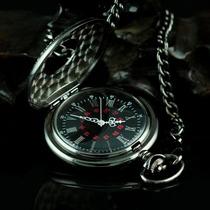 Relógio De Bolso Black Steampunk Retro Vintage Deluxe