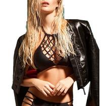 Bikini Top Higth Neck Macrame 2017 Soft Y Less Con Tiras