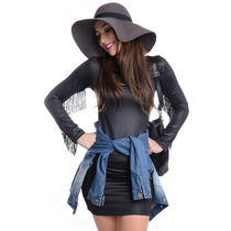Vestido De Cirre Com Franjas - Kam Bess - Ve1099