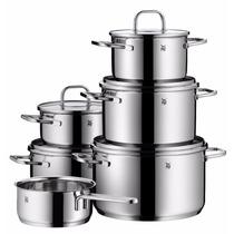 Sp Set De Cocina De 6 Ollas Wmf Acero Inoxidable + 5 Tapas