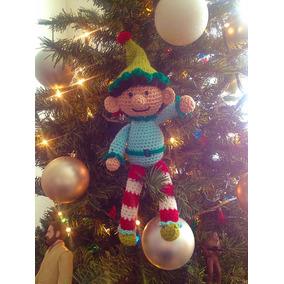 Duende Amigurumi Tejido Tecnica Crochet Navidad Adorno Arbol