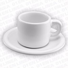 Kit Pocillo Cafe Con Plato Gastronomico Ceramica Resistente
