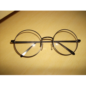 Óculos Redondo Grau Armação Grande Retro Vintage