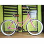 Cuadro De Bicicleta Retro Vintage Rodada 26 Rosa