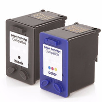 Kit Cartucho Para Hp D1460 D1560 Preto + Color Compatível