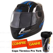 Capacete Moto Pro Tork Evolution G5 Carbon Evo + Brinde