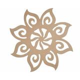 Mandala Floral Aberta Em Mdf Direto Da Fábrica