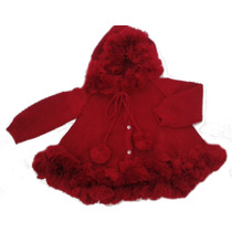 Casaco Infantil Tricot Capa Com Capuz Agasalho Inverno Bebê