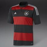 Camisa Da Alemanha Seleção Alemã Listrada Rubro Negra Copa