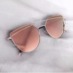 Oculos De Sol Feminino Starlight Reflective Espelhado Rosa