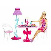Barbie Nueva Comedor Con Muñeca - Casa Glam Mattel