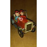 Juguete Antiguo Carro Bombero De Lata Año 1960