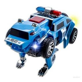 Wolvol Transformers (azul) Eléctricos Patrulla De Policía De
