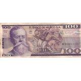 Billetes 100 Pesos Venustiano Carranza 1982 Conservados