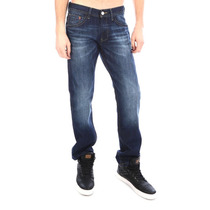 Pantalón Oggi Jeans Hombre Talla 33 Recto Deslavado Urbano