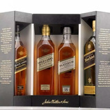 Whisky Jhonny Walker De Coleccion 4 Botellas + Estuche
