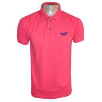 Camisa Hollister Gola Polo Masculina Camiseta Rosa