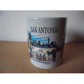 Taza San Antonio Texas Souvenir By Sansegal