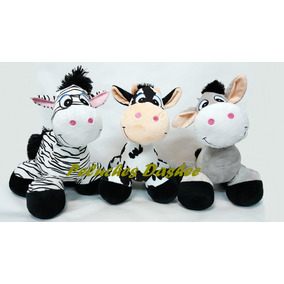 Vaca Burro Cebra De Peluche 40cm