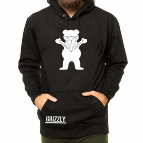 Blusa Moletom Casac Grizzly Lrg Diamond Primitive Dgk Palace