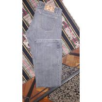 Pantalon De Jean Mujer Tiro Bajo Con Botones