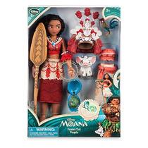 Muñeca Moana Canta Disney Store Tamaño Barbie Con Accesorios