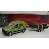 Peugeot Bipper(igual Fiat Qubo)trailer + Gomon- Majorette.