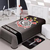 Cobertor Do Corinthians Oficial Solteiro 150 X 220 - Jolitex