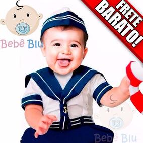 Conjunto Marinheiro Fotografia Bebê Infantil Fantasia Festa