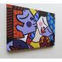 Romero Britto Quadro Sala Quarto 60x80cm- Soft Kiss