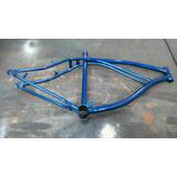 Cuadro De Bicicleta Playera Azul Rodado 26