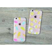 Funda Case Silicona Diseño iPhone 5 Se / 6 +glass