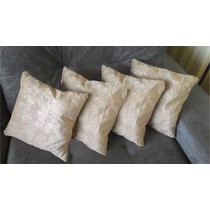 Kit 4 Almofadas Decorativas 45x45 Cm (tecido Suede Amassado)