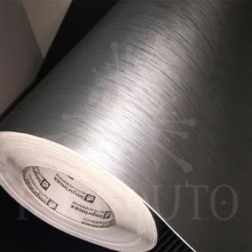 Adesivo Vinil Prata Aço Escovado Tipo Inox Geladeira 6m X 1m